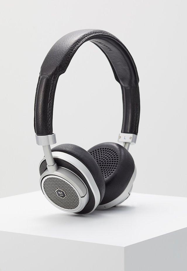 MW50 WIRELESS ON-EAR - Hodetelefoner - black/silver-coloured