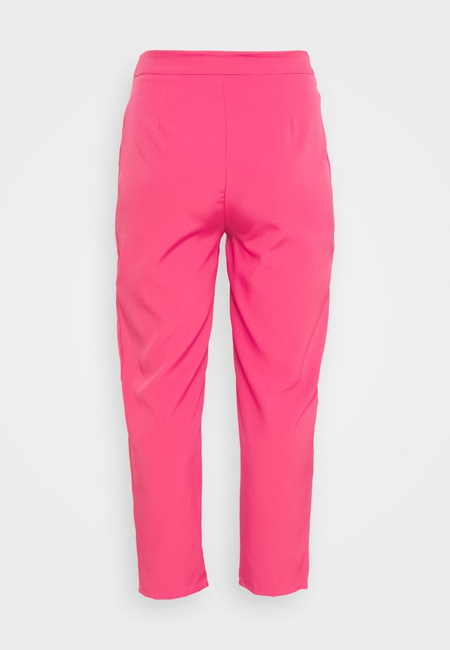 TAILORED CIGARETTE TROUSER - Kangashousut - hot pink