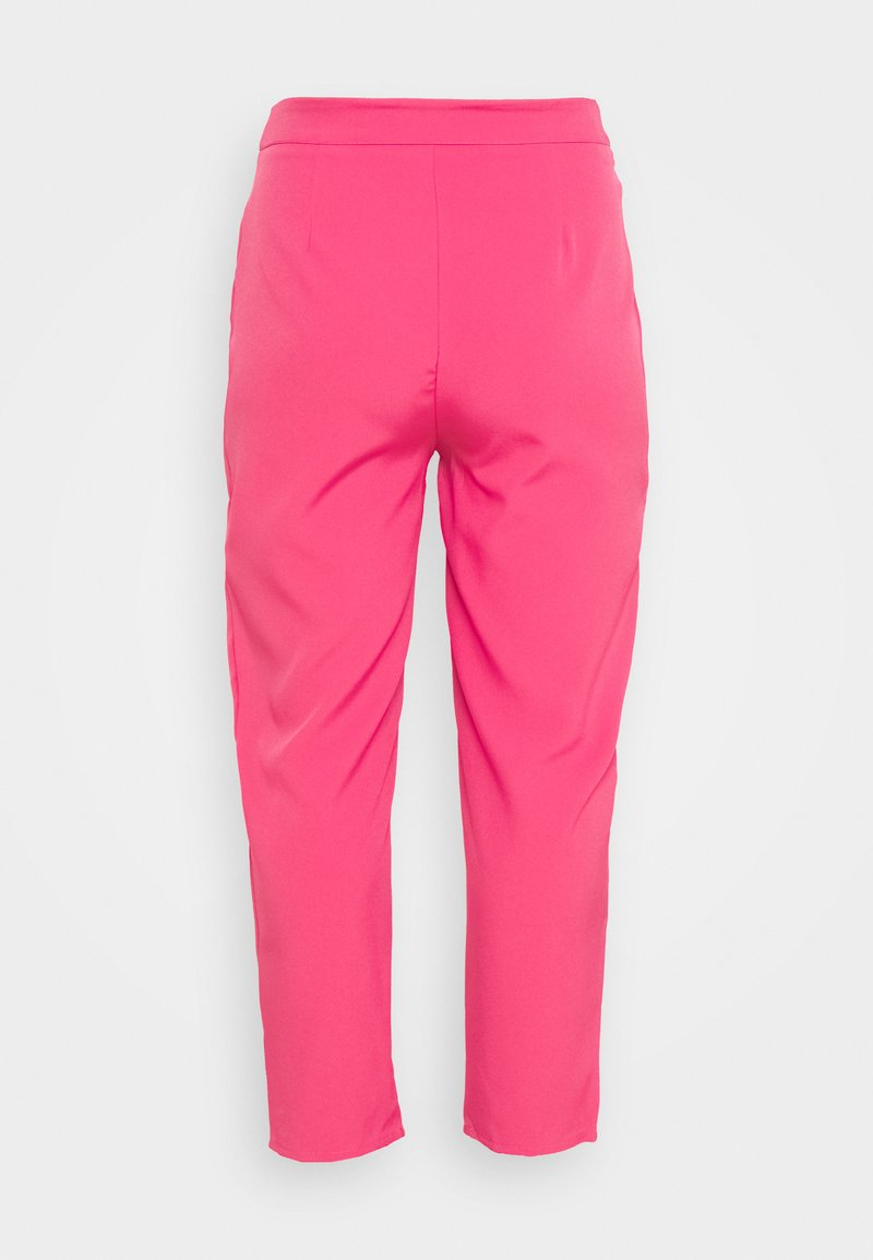 Missguided Plus - TAILORED CIGARETTE TROUSER - Trousers - hot pink