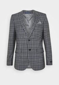 GREY NAVY TARTAN - Suit jacket - grey