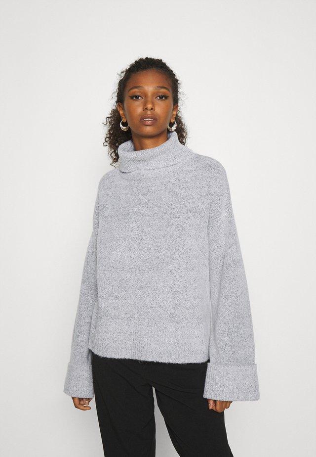 VIANN NEW ROLLNECK  - Stickad tröja - light grey