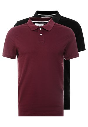 2 PACK - Poloshirts - bordeaux/black