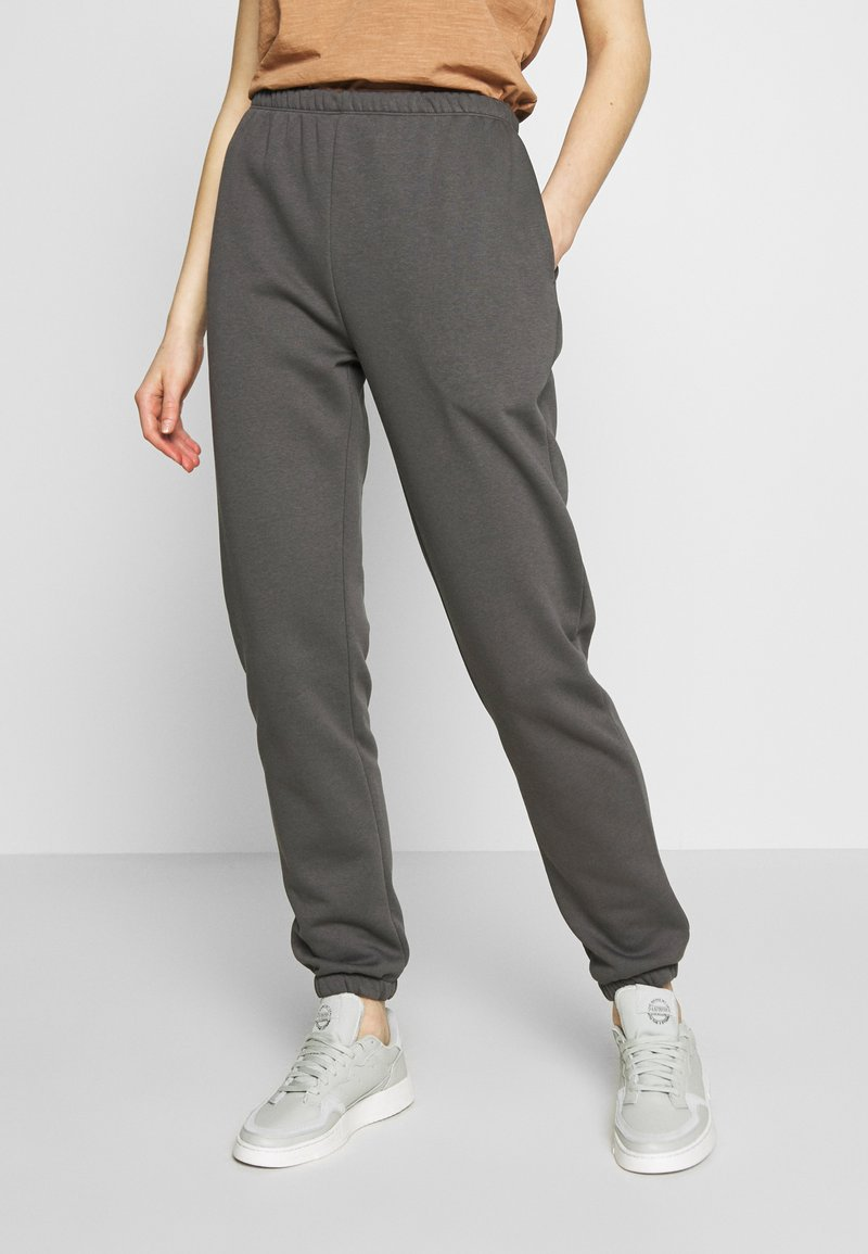 Nly by Nelly - COZY PANTS - Tracksuit bottoms - off black