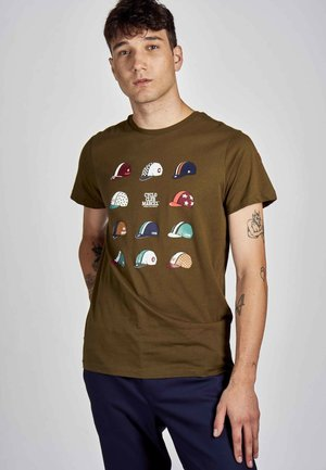 Print T-shirt - khaki green