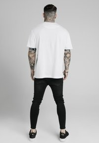SIKSILK - INSET CUFF ESSENTIAL  - Print T-shirt - white - 2