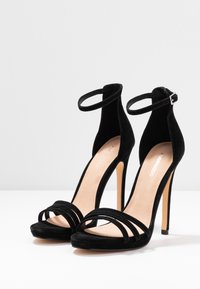 Even&Odd - LEATHER - High heeled sandals - black - 4