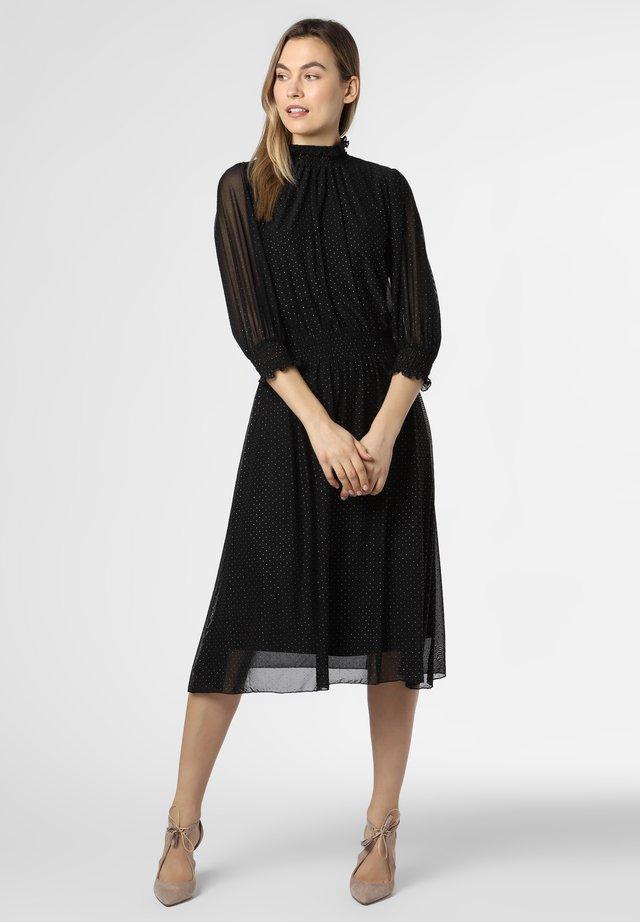 Korte jurk - schwarz silber