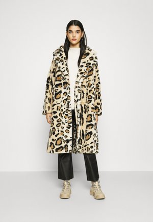 FAUX FUR COAT - Classic coat - brown