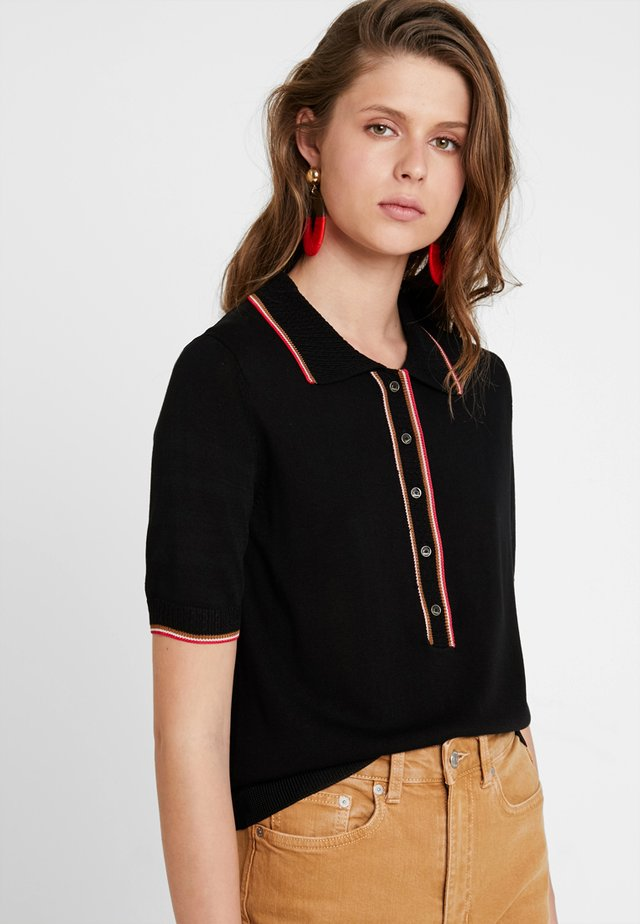 SPORTY - Polo - black