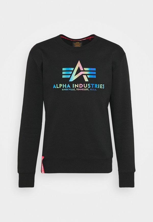 Alpha Industries BASIC RAINBOW PRINT - Bluza - black/czarny Odzież Męska UZRC