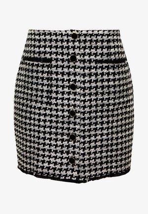 Spódnica mini - carla noir/ecru