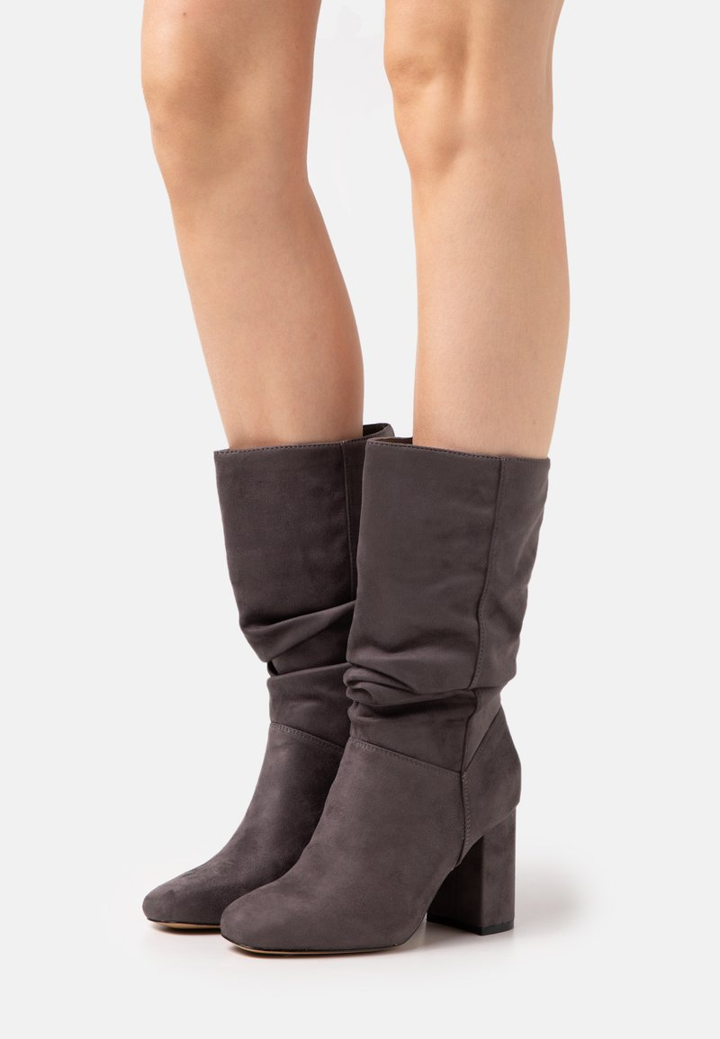 Dorothy Perkins - ROUCHED BOOT - Boots - grey