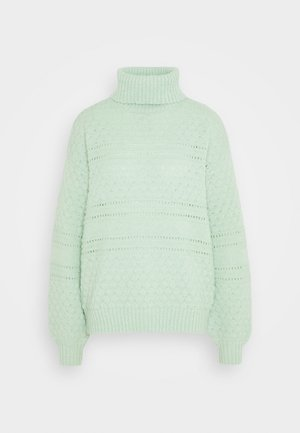 PCSHEA HIGH NECK - Strickpullover - pastel green