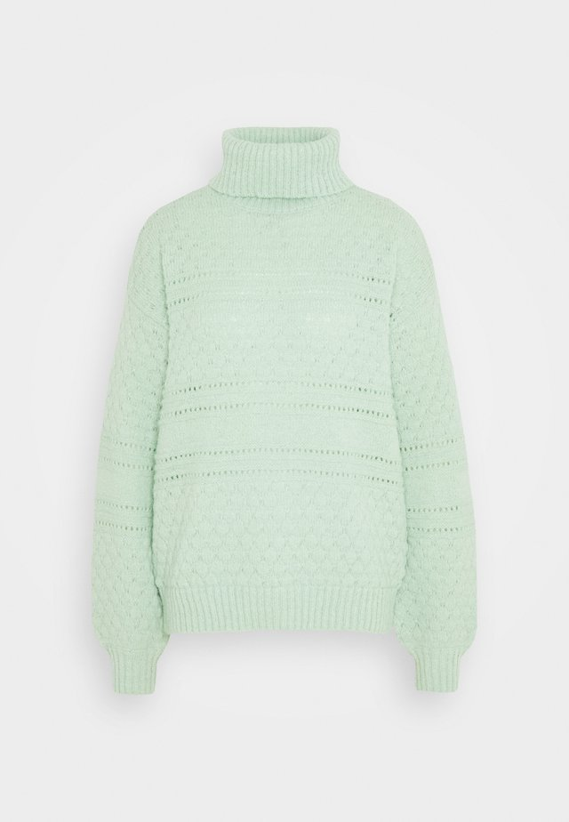 PCSHEA HIGH NECK - Sweter - pastel green