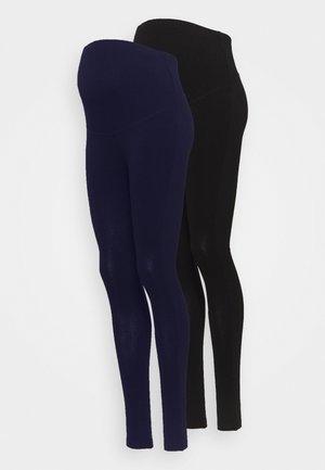 2 PACK - Leggings - dark blue/black