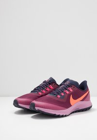 Nike Performance - AIR ZOOM PEGASUS 36 TRAIL - Trail running shoes - villain red/total crimson/blackened blue/frosted plum/mulberry rose/digital pink - 2