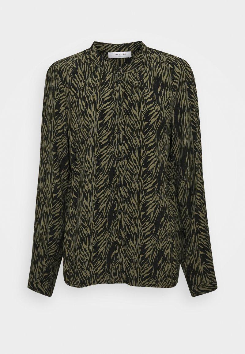 Moss Copenhagen - CALIE MOROCCO - Button-down blouse - sage
