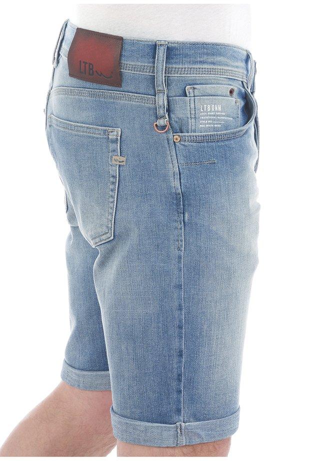 CORVIN - Denim shorts - blue