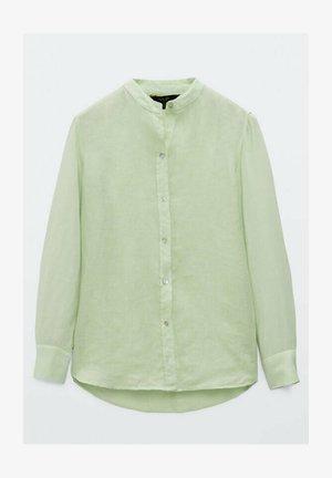UNIFARBENES  - Button-down blouse - evergreen