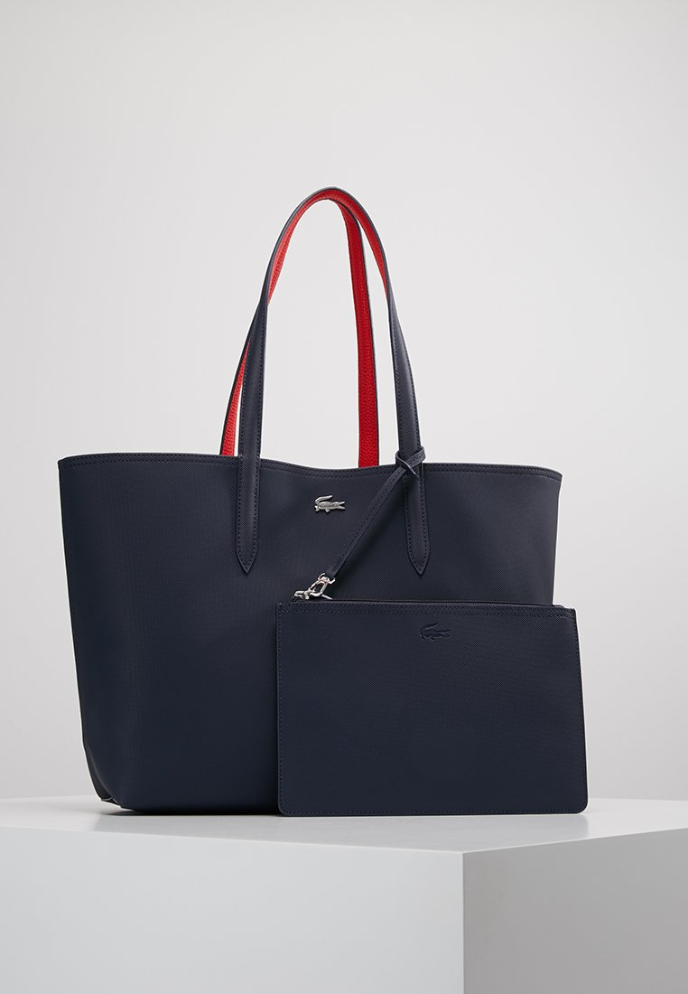 Lacoste - REVERSIBLE - Shopping bags - peacoat salsa