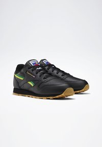 Reebok Classic - CLASSIC LEATHER SHOES - Sneakers laag - black - 4
