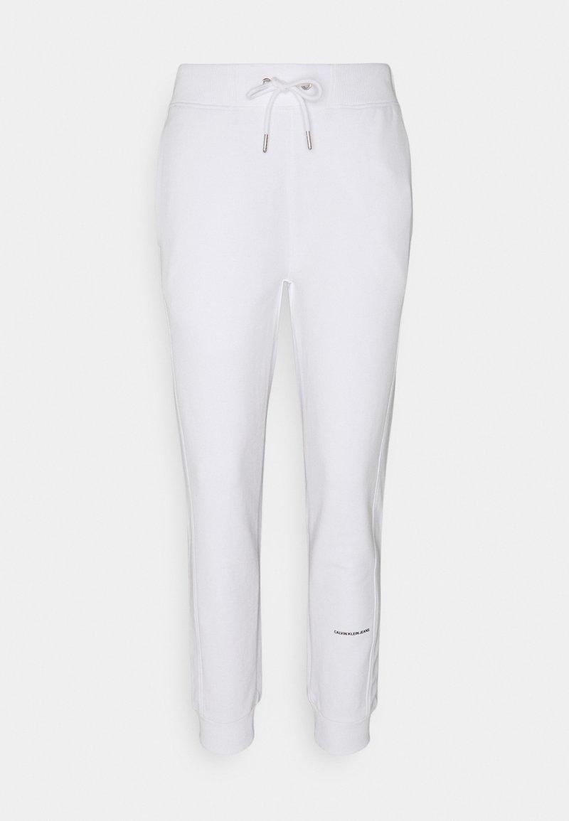 Calvin Klein Jeans - MICRO BRANDING PANT - Teplákové kalhoty - bright white