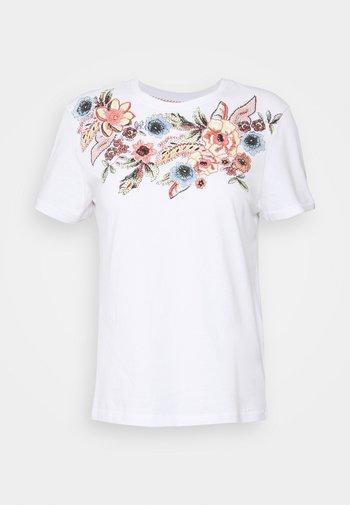 ONLCORNELIA LIFE BOX - T-shirt con stampa - white