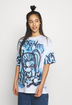 NOT YOUR  - T-shirt med print - blue