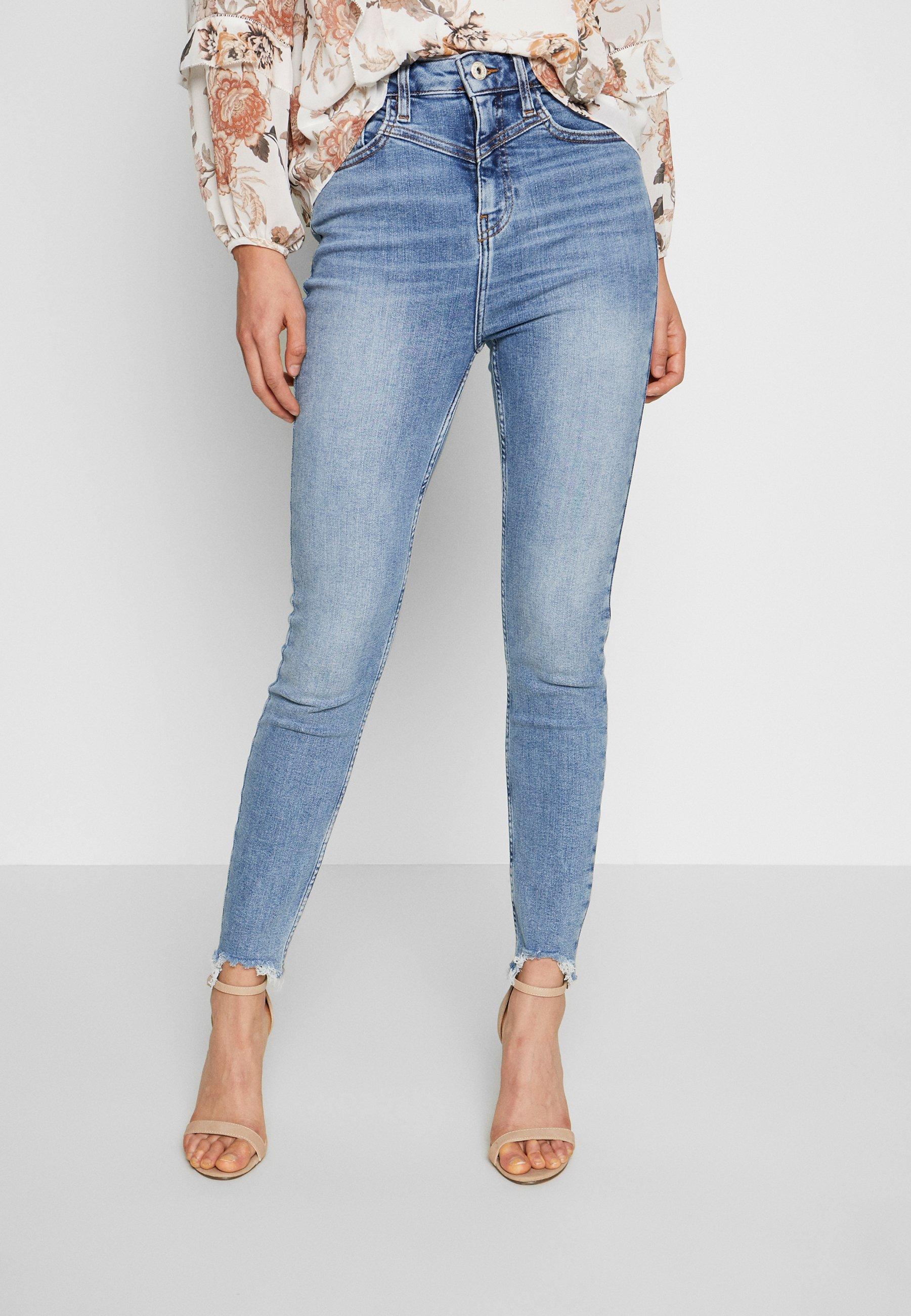 River Island HAILEY  - Jeans Skinny - mid wash - Jeans Femme Wkk2V