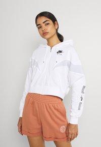 Nike Sportswear - AIR HOODIE - Zip-up sweatshirt - white/pure platinum/black - 0