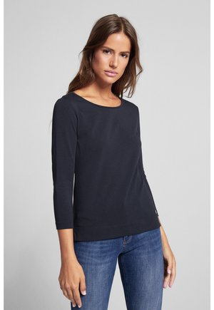Long sleeved top - navy/weiss