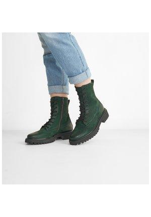 Platform ankle boots - grün