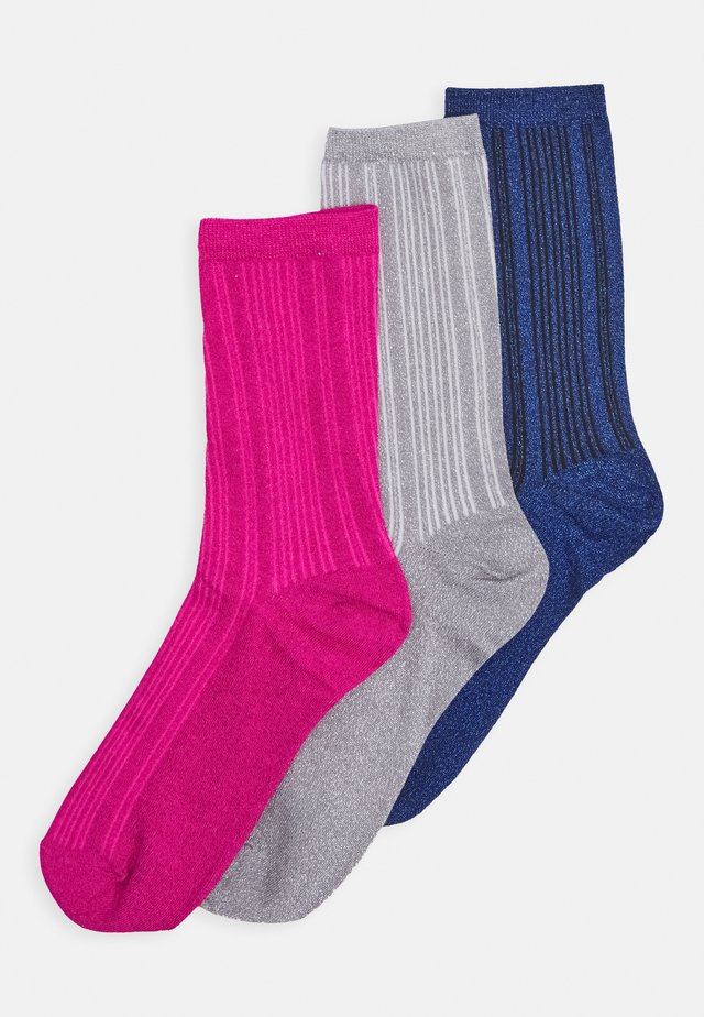 SLF3PACK LANA SOCK 3 PACK - Strømper - very berry/quicksilver/blueprint