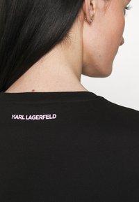 KARL LAGERFELD - STRIPE LOGO - T-Shirt print - black - 3