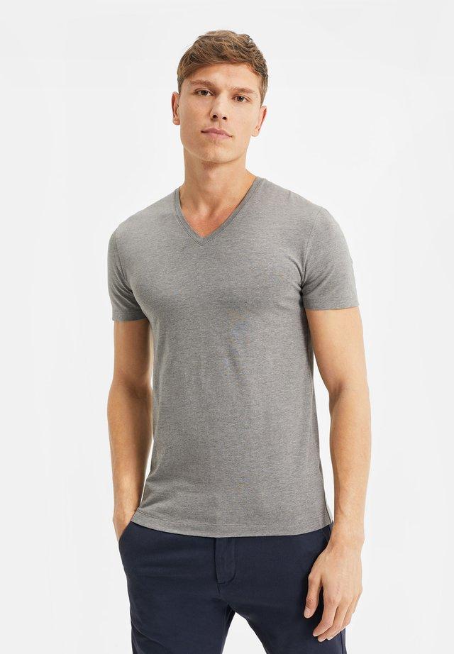 T-shirt basic - blended light grey