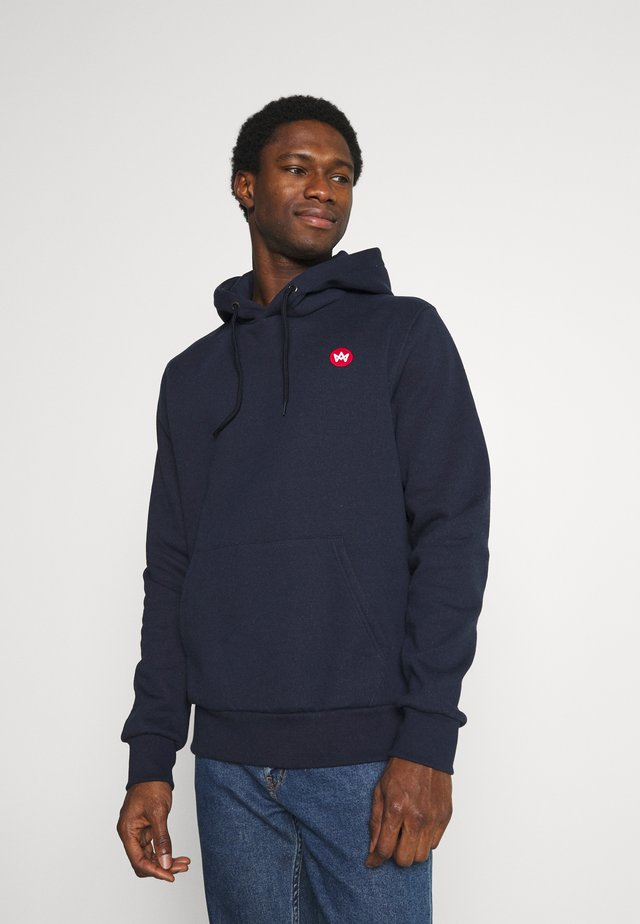 LARS HOOD  - Sweater - navy