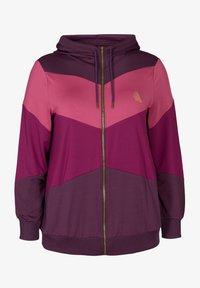 Active by Zizzi - AMONA - Zip-up hoodie - purple - 3