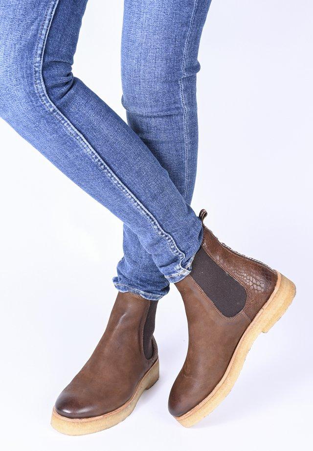 JOHANNA SNAKE - Ankle boots - braun