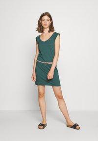 Ragwear - SLAVKA - Žerzejové šaty - dark green - 1