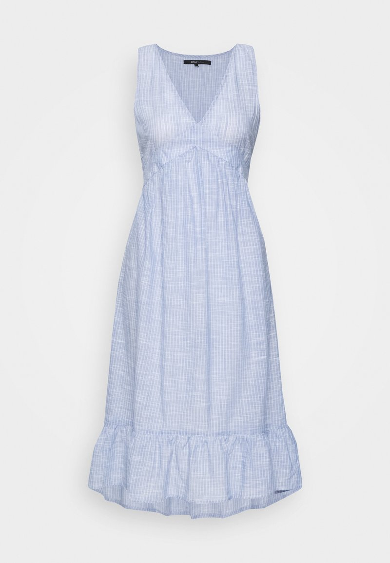 ONLY - ONLMARGAERY LIFE STRIPE  - Denní šaty - light blue denim/cloud dancer