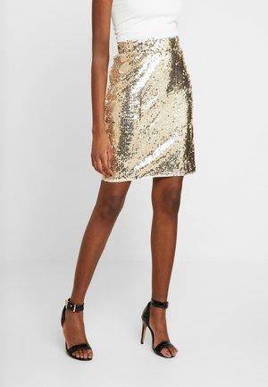 BSCORAS SLIM - Pencil skirt - gold