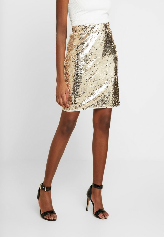 BSCORAS SLIM - Pencil skirt - gold