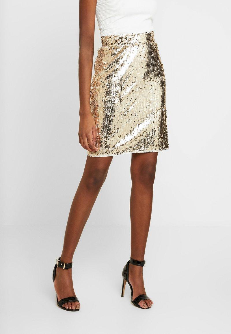 Blendshe - BSCORAS SLIM - Pouzdrová sukně - gold