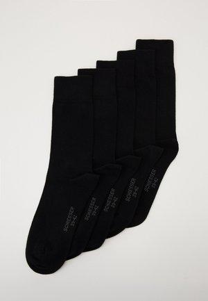 5 PACK - Strumpor - schwarz