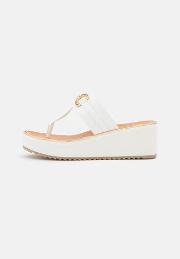GWALIDIA - Flip Flops - white