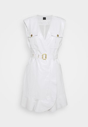 ATTIVO ABITO SIMILPELLE - Day dress - white