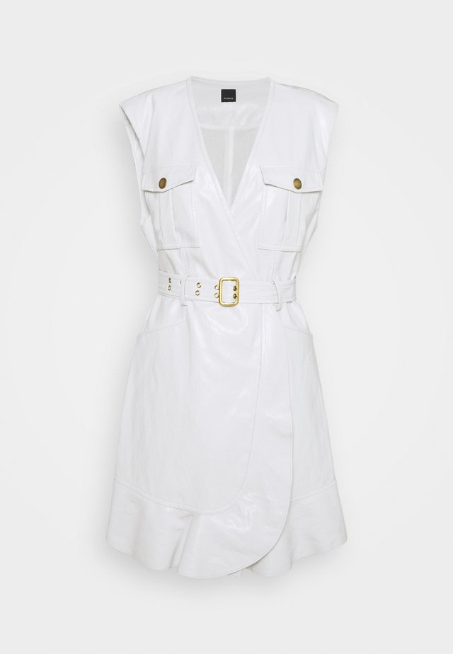 ATTIVO ABITO SIMILPELLE - Korte jurk - white