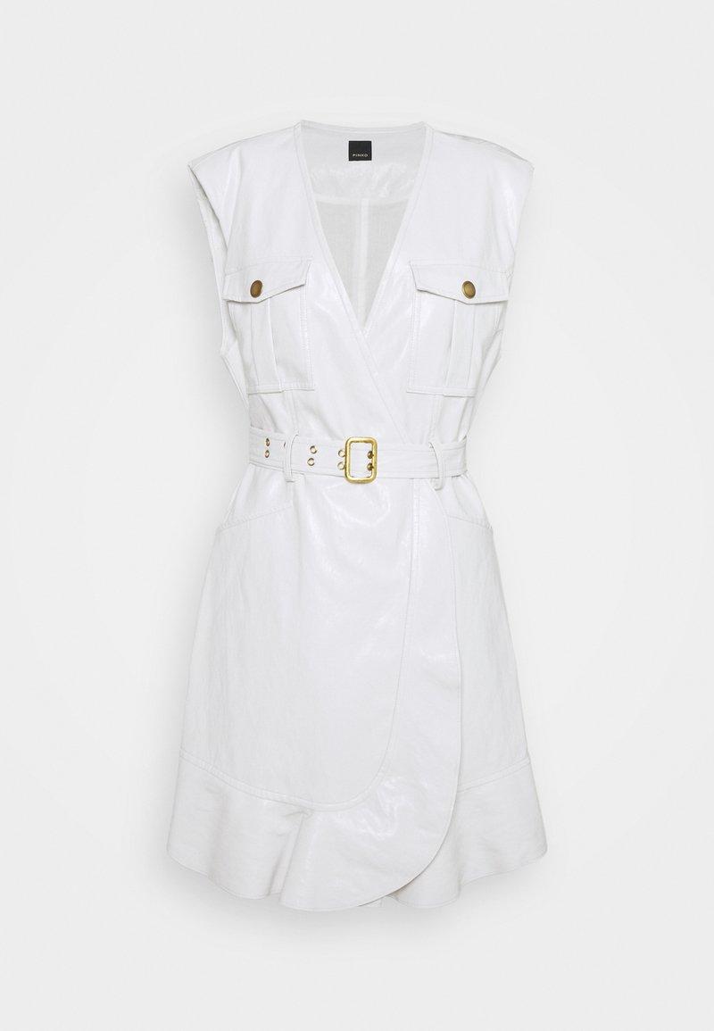 Pinko - ATTIVO ABITO SIMILPELLE - Day dress - white