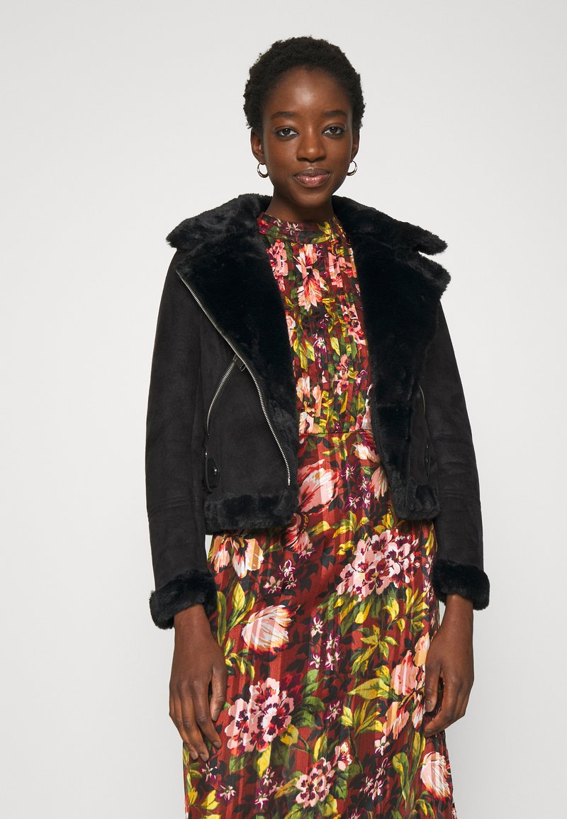 New Look - ANNA AVIATOR - Faux leather jacket - black