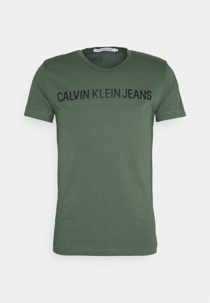 INSTITUTIONAL LOGO SLIM TEE - T-shirt med print - duck green